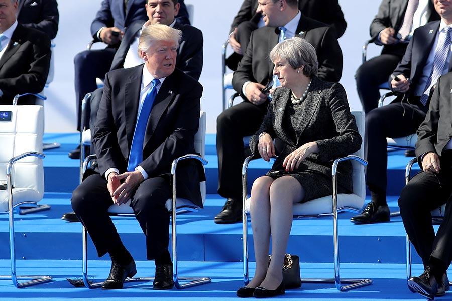 英國首相文翠珊說,要在北約峰會時向特朗普提出關注。(Dan Kitwood/Getty Images)