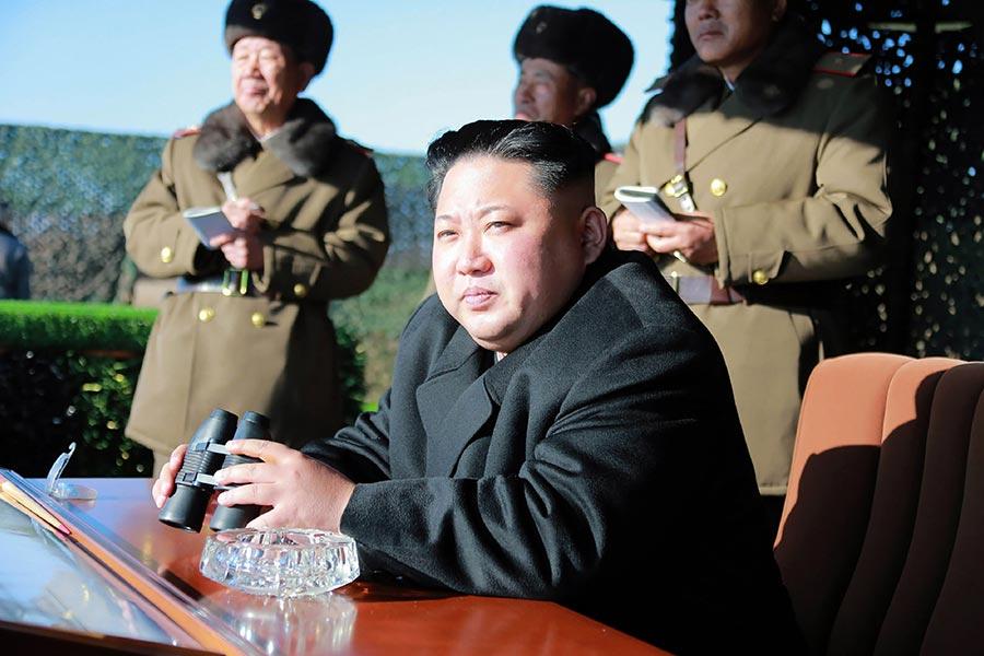 中情局局長蓬佩奧周四(7月20日)晚上對北韓獨裁者金正恩發出特朗普政府迄今最激進的一些言論。他鼓勵罷黜獨裁者金正恩。(KNS/AFP/Getty Images)