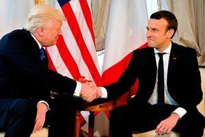 馬克龍式握手 似乎讓特朗普招架不住