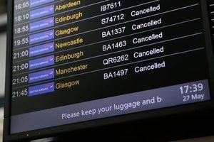 英國長周末出行混亂 英航取消大量航班