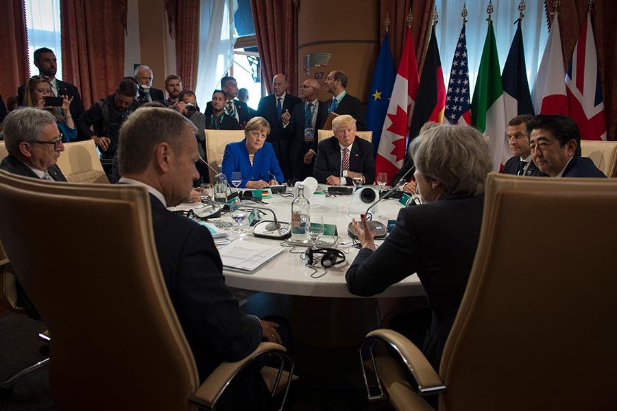 根據法國總統方面周六(5月27日)的消息,七國集團(G7)領袖已經在貿易談判上取得了巨大進展,尤其是在多邊貿易問題上。(Guido Bergmann/Bundesregierung via Getty Images)