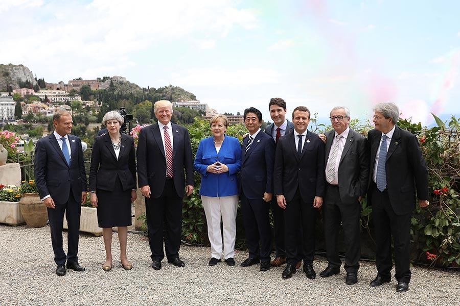 特朗普5月26日出席七國集團會議。(Dan Kitwood/Getty Images)
