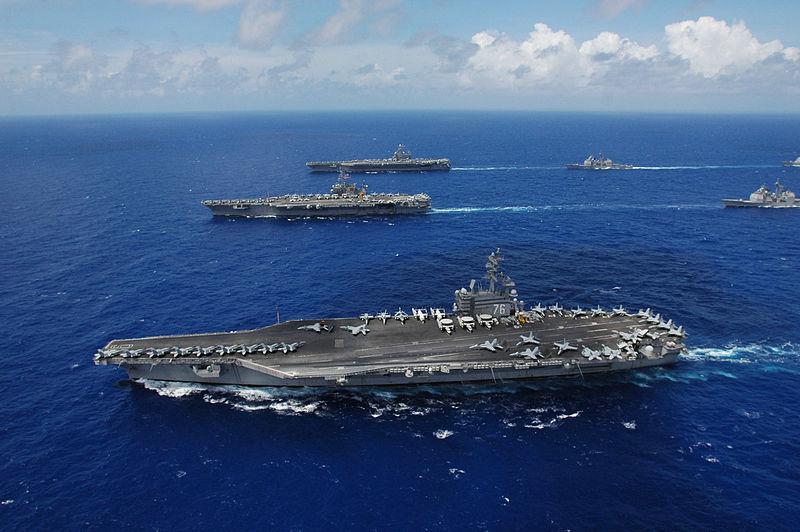 「列根」號航母戰鬥群。(維基百科)
