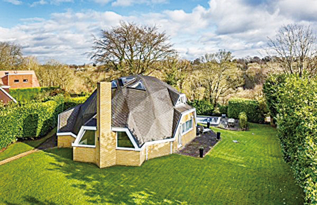 由專業建築師設計的四房的圓頂屋。(Fine & Country)