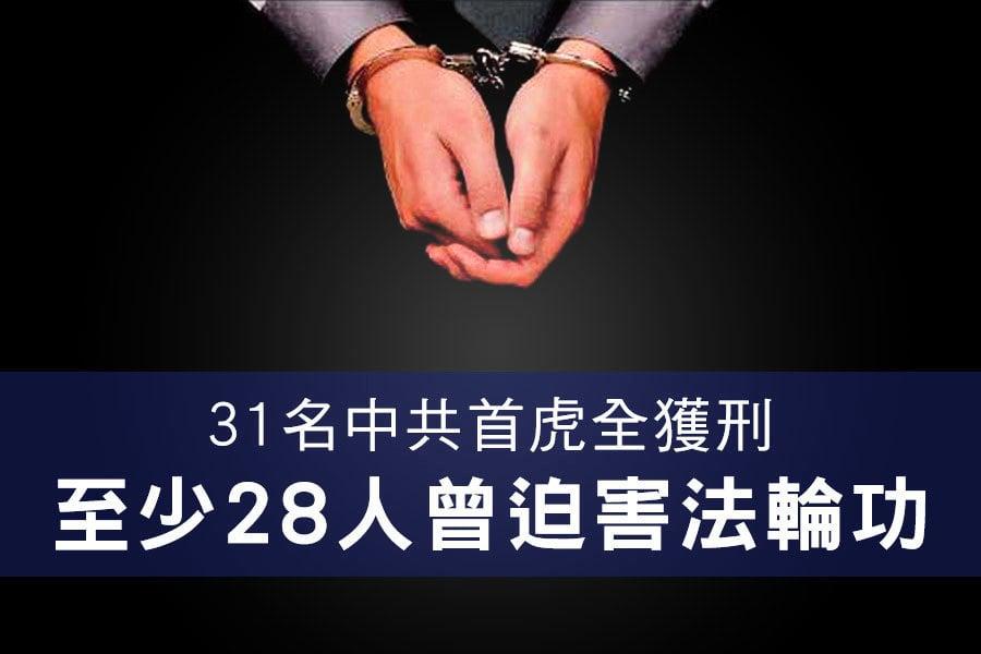31名中共首虎全獲刑 至少28人曾迫害法輪功