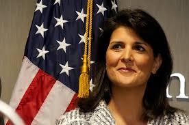 美國駐聯合國大使黑利(Nikki Haley)周二(30日)表示,中美兩國正在協商何時應該推動聯合國安理會對北韓的進一步行動。(Getty Images)