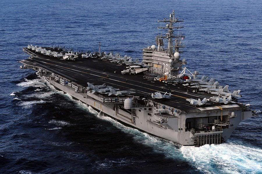 向北韓發信號 美兩艘航母日本海聯合軍演