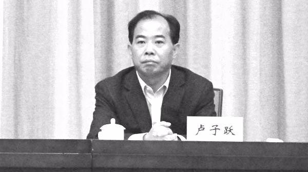 浙江省前副省長盧子躍日前被判處無期徒刑。(網絡圖片)