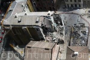 舊中區警署宿舍倒塌 屋宇署將控承建商