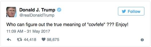 特朗普造新詞熱傳網絡 網民創意解讀