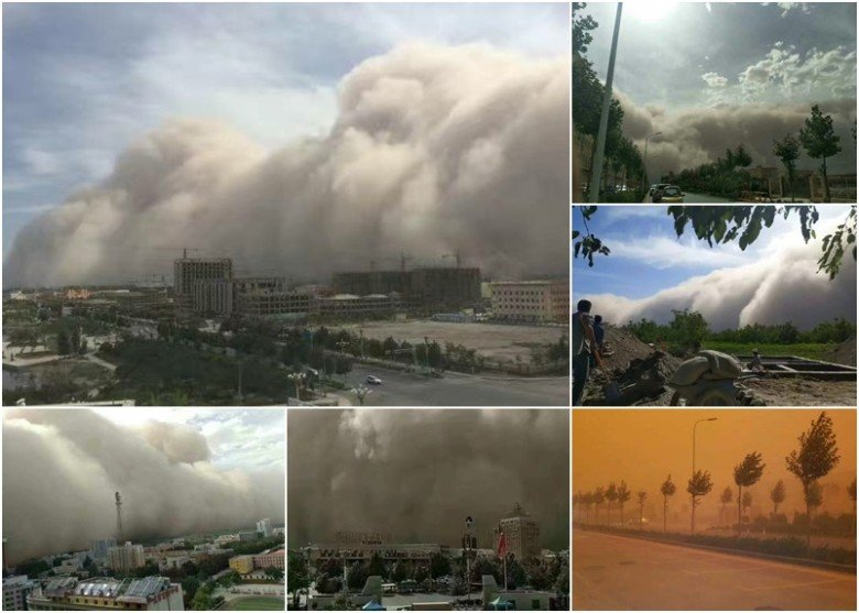 組圖:新疆莎車縣遇最強沙塵暴 仿如末日