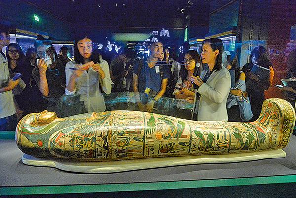 圖片新聞:科學館展出逾200件古埃及藏品