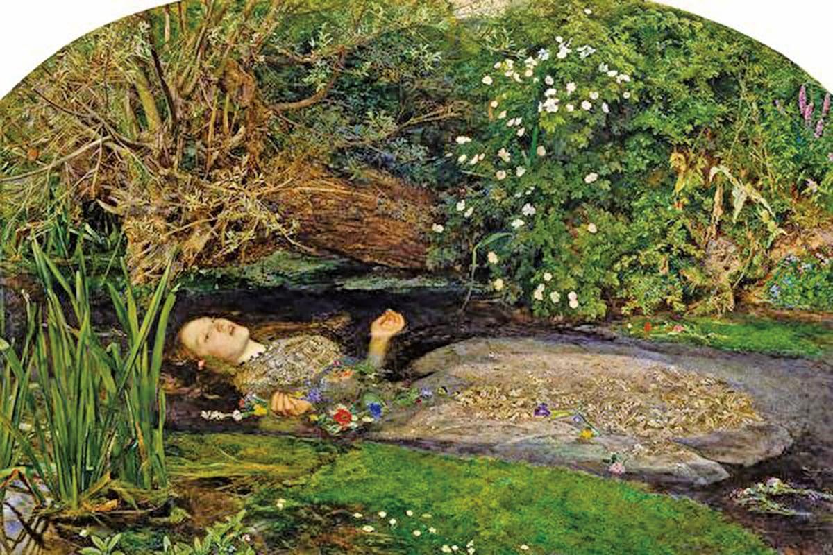 哈姆雷特相關繪畫–哈姆雷特的愛人死於水中(維基百科)