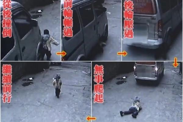 視頻:南京4歲童遭客貨車輾過後自己爬起