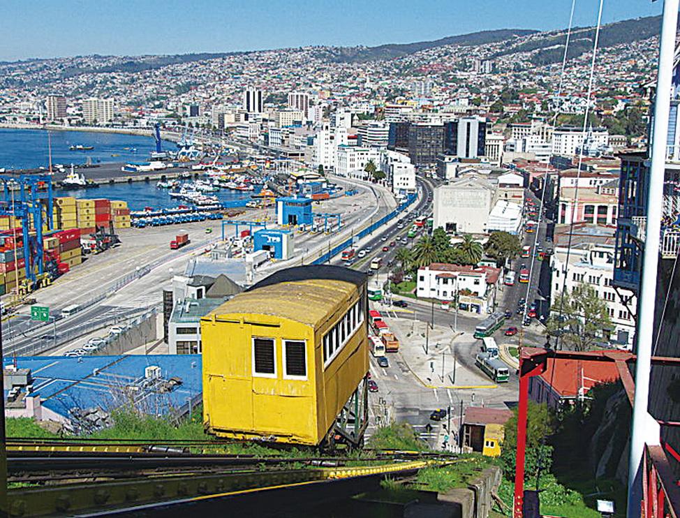 瓦爾帕萊索隨處可看到登山纜車。(Javier Rubilar/CC/Pixabay)