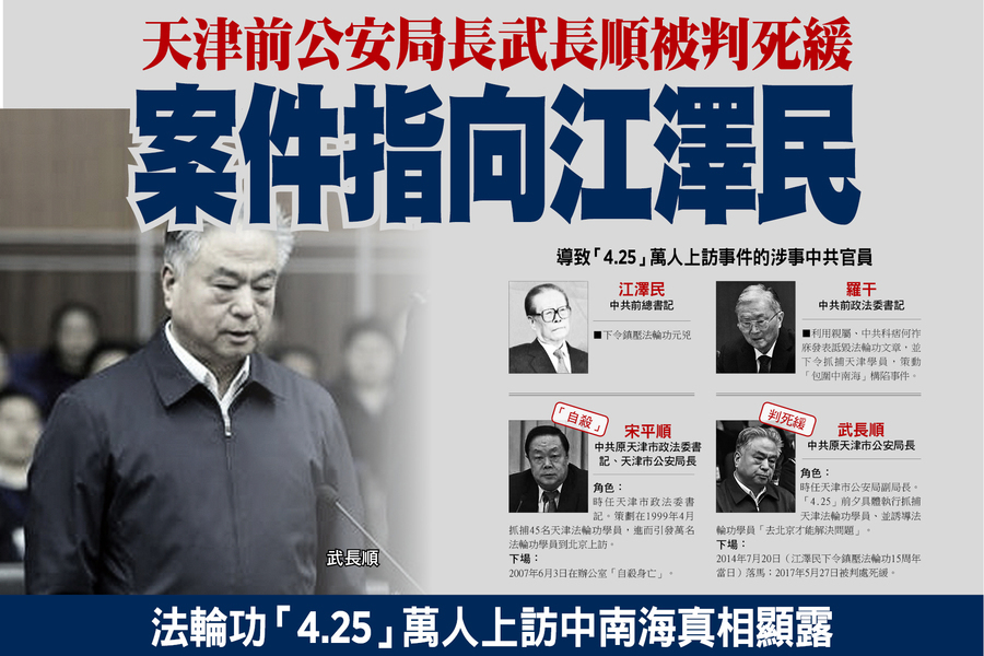 天津前公安局長武長順被判死緩  案件指向江澤民