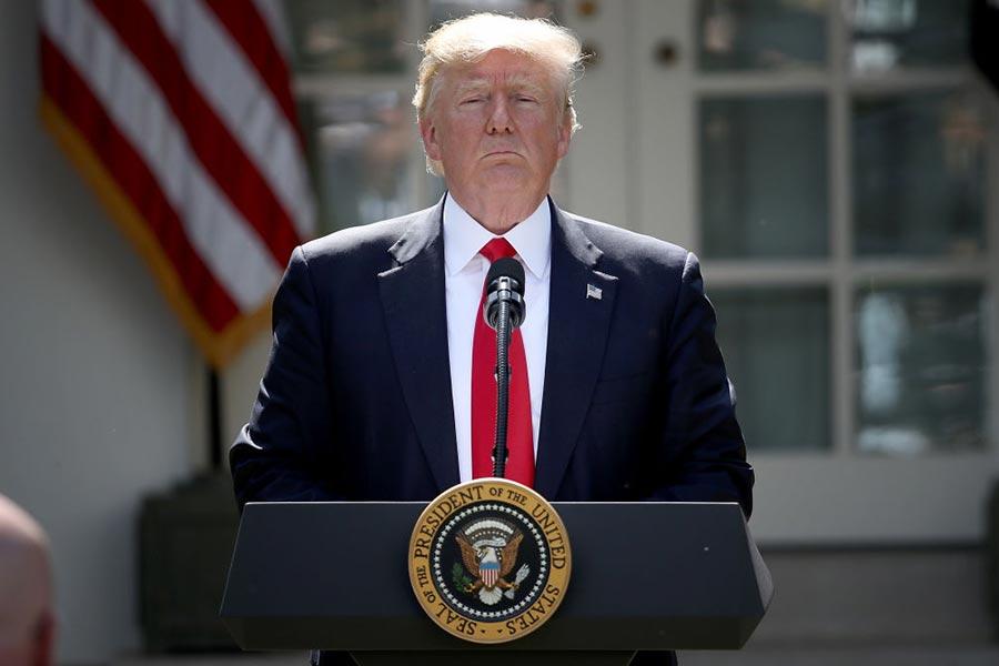 6月1日,美國總統特朗普向全球宣佈,美國推出《巴黎氣候協定》。(Win McNamee/Getty Images)