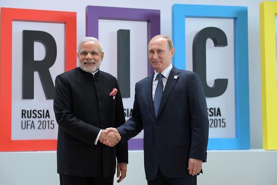 意在制衡中共 普京和印度總理莫迪加強合作