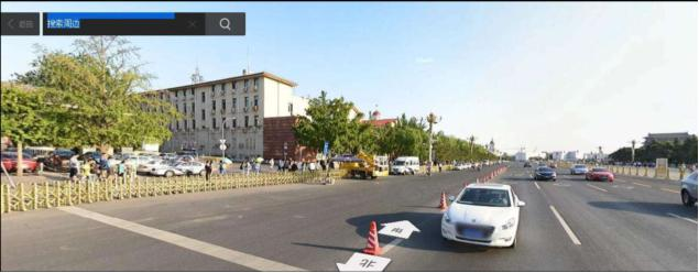 6月4日凌晨,「天安門廣場東南角槍擊案」發生地。(百度全景擷圖,翻攝陳小雅《八九民運史》修訂版)