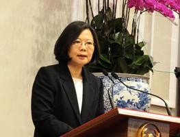 蔡英文籲北京面對六四 台灣願分享民主經驗