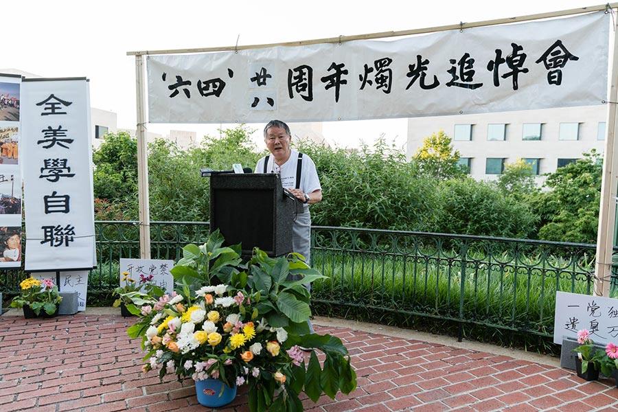 中國民主運動海外聯席會議主席魏京生說:「只有共產黨垮台了,我們才有條件去變成一個正常的國家,老百姓才能過上正常的生活。」(石青雲/大紀元)