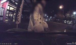 爬上豪車拍照遭車主怒斥 華裔女首次道歉