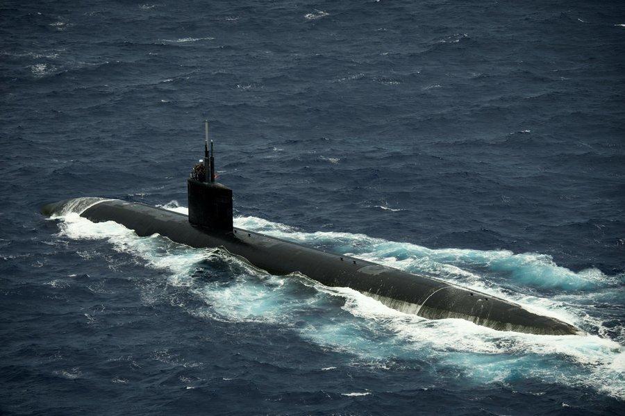 震懾北韓?美核動力潛艇夏延號抵韓港口