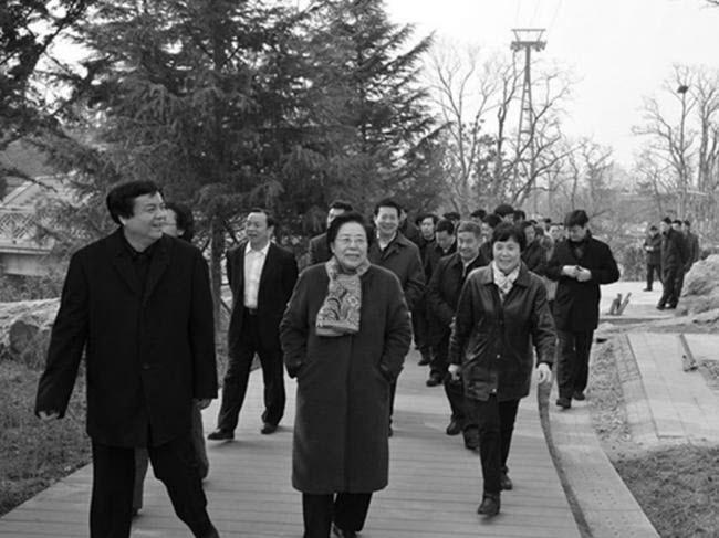 圖片中間的女子是江澤慧。(網絡圖片)