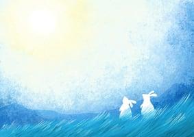 【寓言】小白兔和月亮石