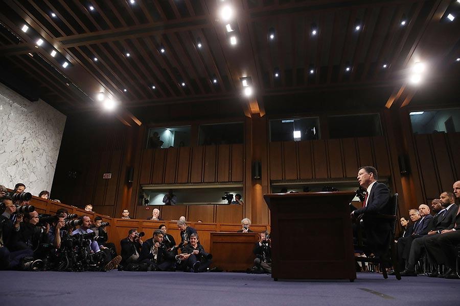 特朗普律師卡索維茲表示,科米6月8日上午在參議院的證詞,證實了特朗普未與俄國勾結,也從未試圖阻止通俄門的調查,真相總算大白。(Mark Wilson/Getty Images)