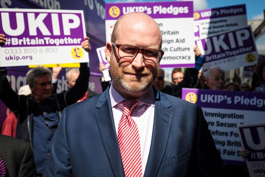 英國獨立黨(UKIP)領袖Paul Nuttall。(Jack Taylor/Getty Images)