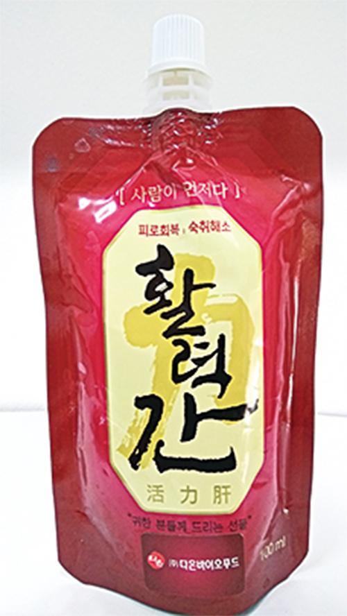 ▲韓國多溫BIO食品的「活力肝」飲品,由韓藥師協會會長李尚宰,利用自己40年中醫經驗花了5年時間研製而成,目前在部份韓國藥房都有零售。