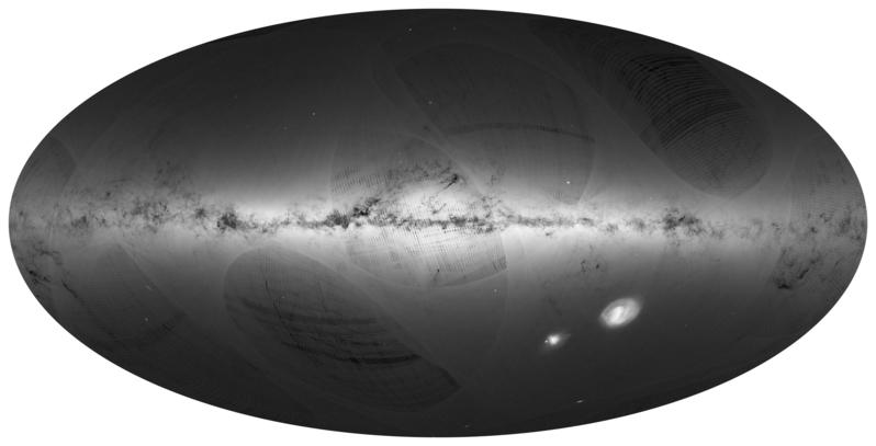 歐洲太空總署測定銀河系最準確的三維(3D)星圖。(ANDRE MOITINHO, MARCIA BARROS/AFP)