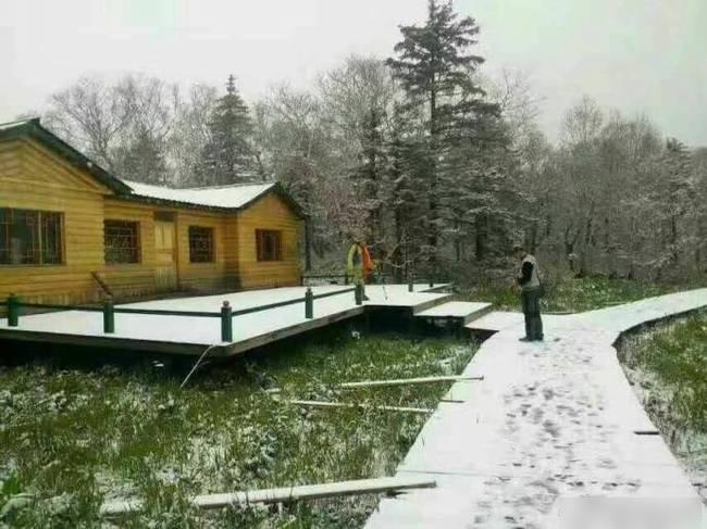 黑龍江局部地區出現降雪。(網絡圖片)