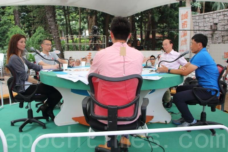 南華日前主動退出港超聯,昨日在《城市論壇》多位嘉賓都談到南華未來投資在青訓的情況。(蔡雯文/大紀元)