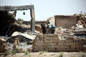 獲美支持部隊已逼近IS老巢拉卡老城區城牆