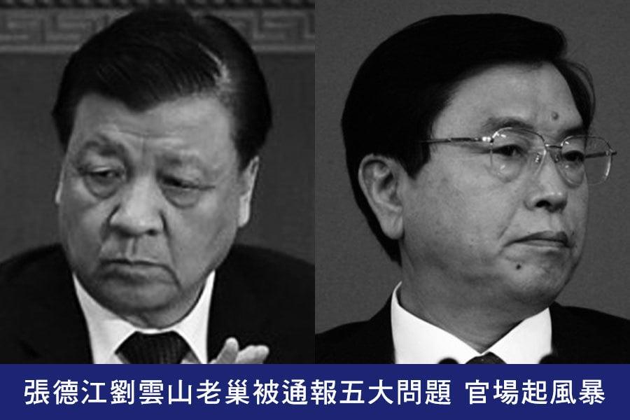張德江劉雲山老巢被通報五大問題 官場起風暴