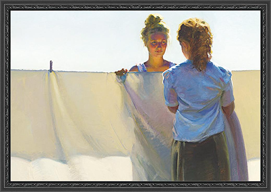 《拉爾森》(Larson),2015年,Jeffrey T. Larson作,亞麻布面油畫,獲第12屆藝術復興中心沙龍展具象畫頭獎。