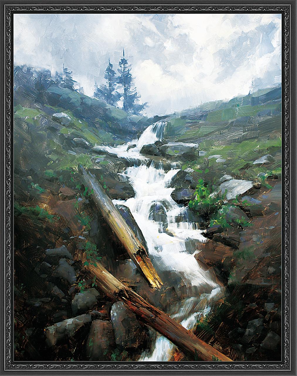 《山雨將至》(The Coming Rain),2014年,Dave Santillanes作,油畫,獲第12屆藝術復興中心沙龍展風景畫大獎。