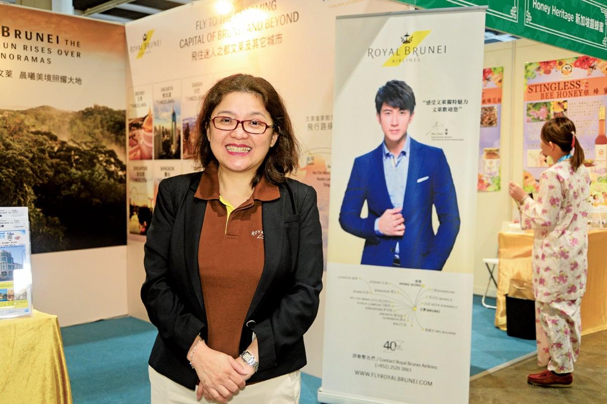 汶萊皇家航空香港分區營業經理Arriani Hui。(宋碧龍/大紀元)