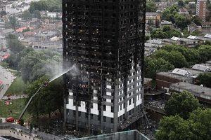 倫敦大火後樓內首批照片流出 如人間煉獄