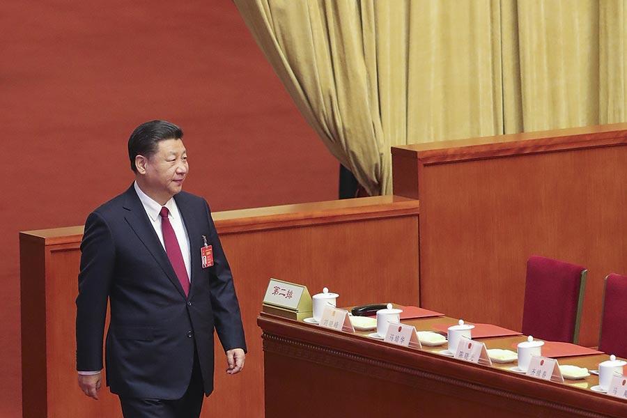 圖為習近平在今年三月份的兩會上。(Lintao Zhang/Getty Images)