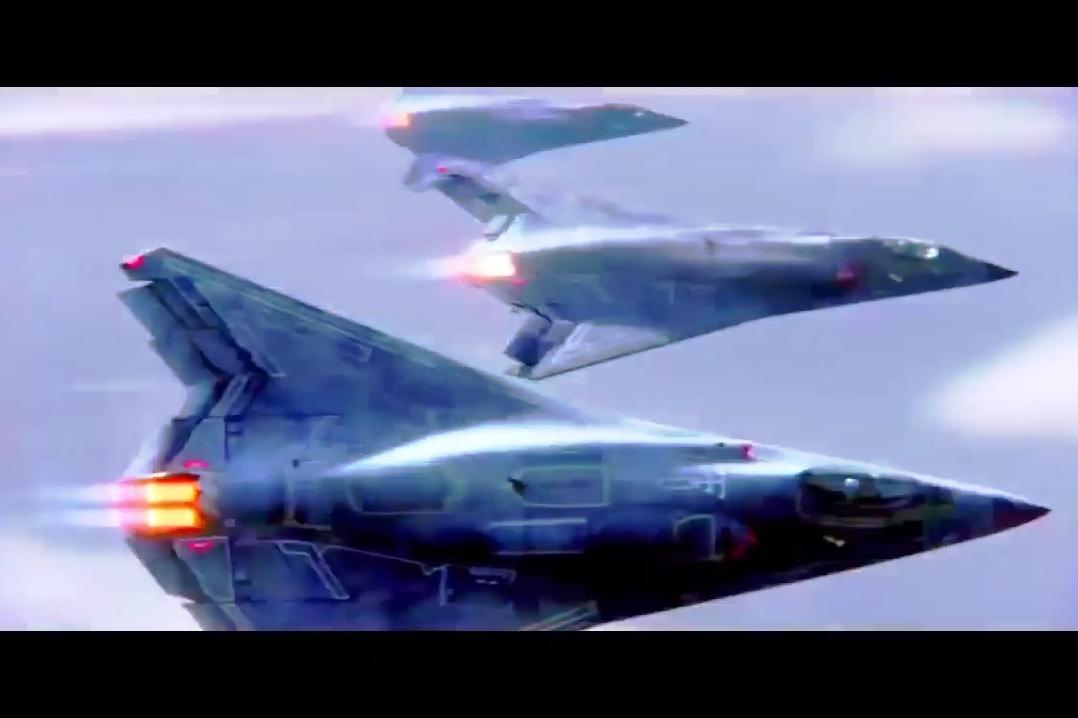 外界推測第六代戰機的設計模式(六)。(YouTube視像擷圖)