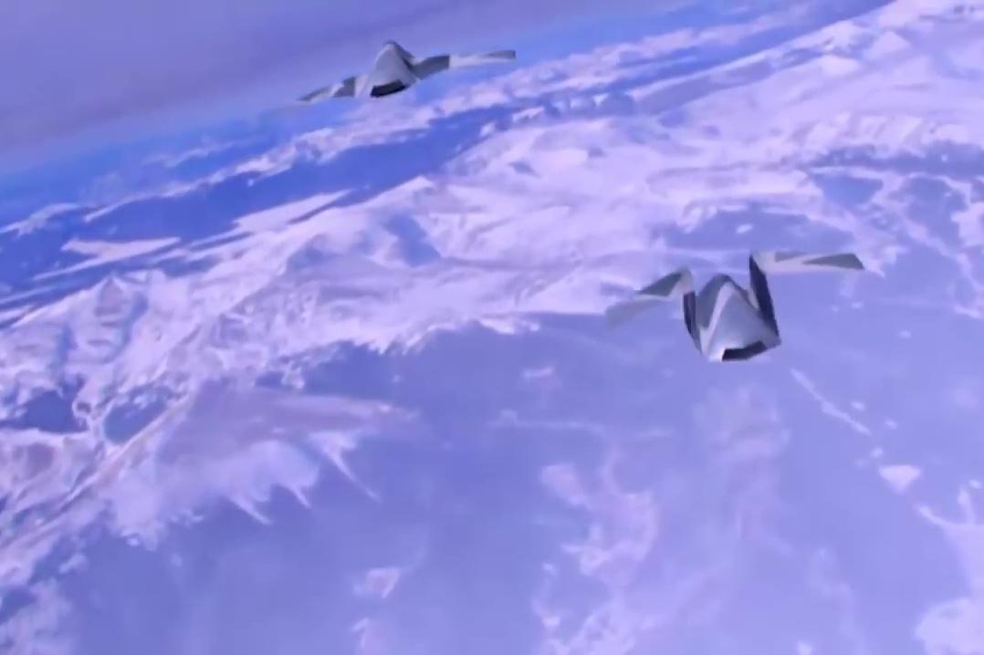 外界推測第六代戰機的設計模式(三)。(YouTube視像擷圖)
