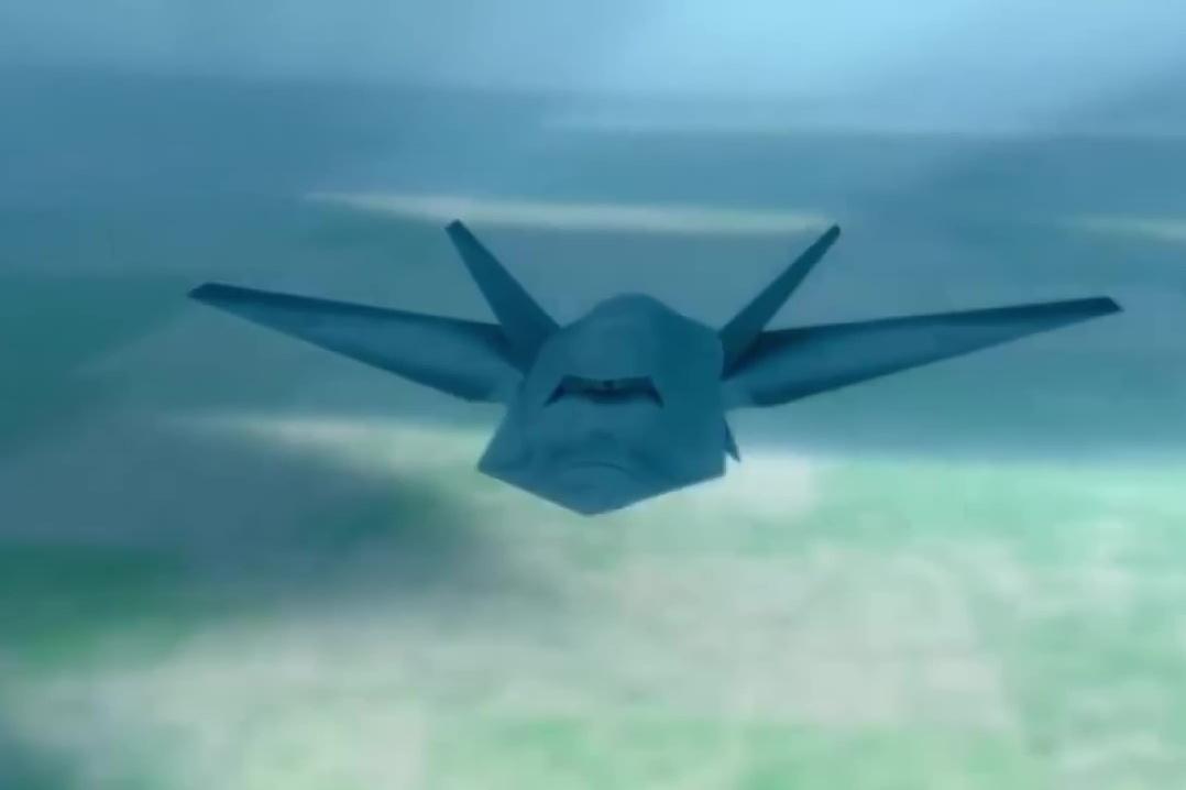 外界推測第六代戰機的設計模式(二)。(YouTube視像擷圖)