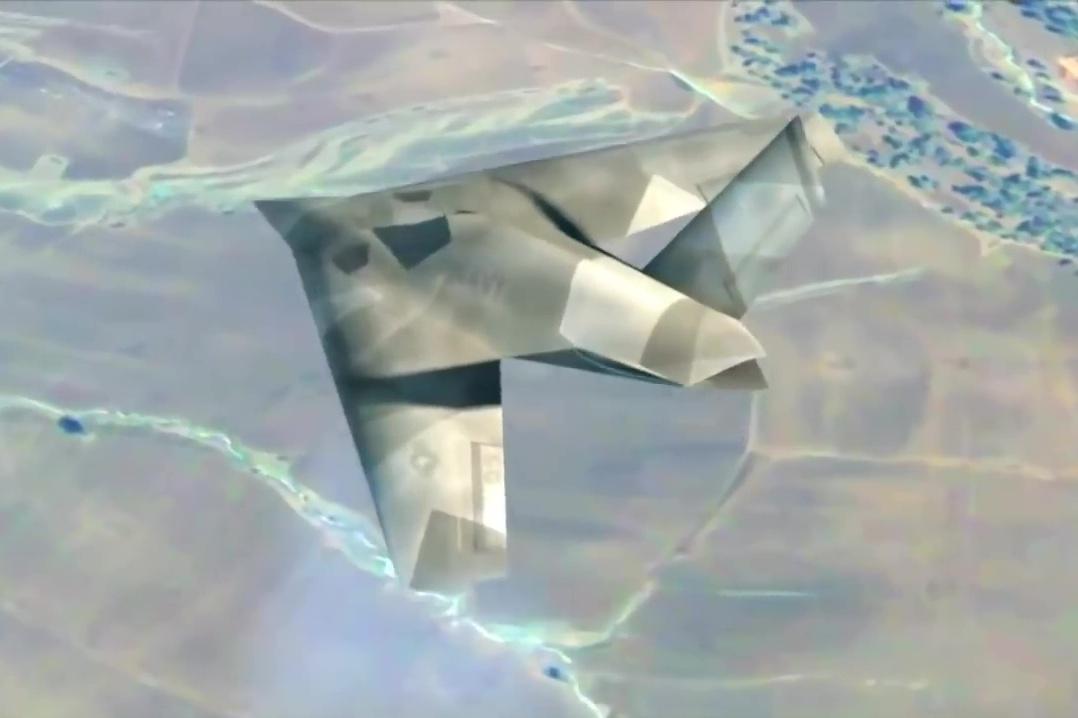 外界推測第六代戰機的設計模式(一)。(YouTube視像擷圖)