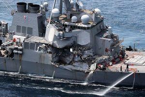 美驅逐艦離奇撞船 七名罹難水手身份確認