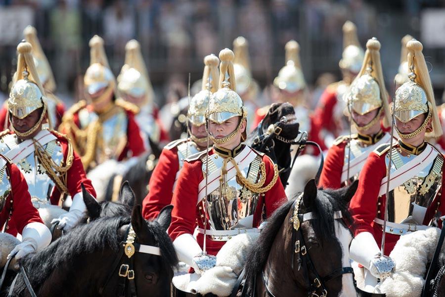 皇家軍隊閱兵儀式(Trooping the Colour)。(Jack Taylor/Getty Images)