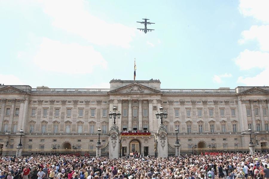 英國皇家軍隊閱兵儀式(Trooping the Colour)。(Chris Jackson/Getty Images)