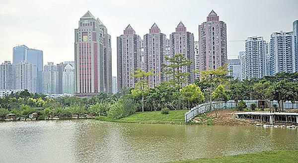 中國深圳奧宸地產被曝資金鏈斷裂,引發業界對中國房企未來前途的擔憂。(Getty images)